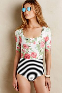 Vintage Rose Maillot by Seea