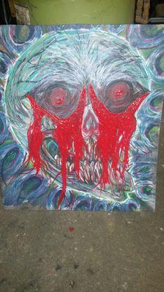 #TheBeardedWelder #painting #scratching #art #slipknot #korn #eminem #rihanna #chive #zombie #walkingdead #horror #gore #tattoo #monster #ftw #dgaf #outtaweldinggas #skull #deez #noclue