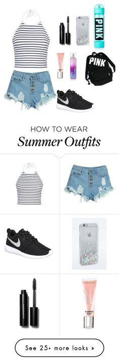 """""""Summer outfit"""" by lisacv on Polyvore featuring WithChic, Ally Fashion, Bobbi Brown Cosmetics, Victoria's Secret, Beauty Rush and NIKE"""