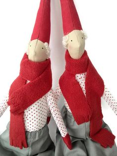 Rag Doll Christmas toy Gnomes Stuffed toys Christmas decor Tilda dolls Tilda Christmas gift  Christmas Elf New Year decor Scandinavian