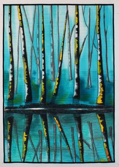 """""""Forest of Blues"""" by Desiree Habicht. Dinner at Eight Artists: The Space Between: Houston-bound"""