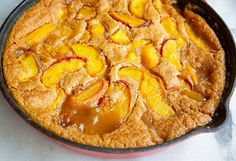 The classic Bisquick Peach Cobbler recipe, revamped with fresh peaches and brown sugar. Original recipe is also included! Peach Cobbler With Bisquick, Fresh Peach Cobbler, Bisquick Recipes, Quiche Recipes, Pie Recipes, Rasberry Cobbler, Peach Tart Recipes, Food Centerpieces, Biscuit Mix