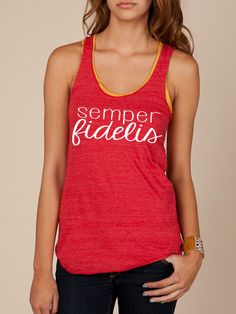 I want this tank!! Semper Fidelis tank - marine corps usmc. at ease designs usmc navy army usaf uscg clothing
