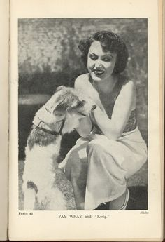 Fay Wray and Fox Terrier. King Kong Ding Dong ?