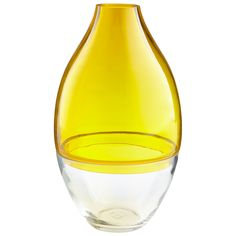 Buy the Cyan Design 8605 Yellow and Clear Direct. Shop for the Cyan Design 8605 Yellow and Clear Mellow Yellow Inch Tall Glass Vase and save. Hanging Terrarium, Glass Terrarium, Floor Vase Decor, Vases Decor, Cyan Lighting, Tall Glass Vases, Yellow Vase, Vases For Sale, Vase Shapes