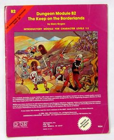 Vtg 1980 Dungeons & Dragons The Keep on the Borderlands B2 Module TSR 9034 #TSR
