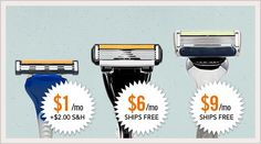 Quality Razors for just a few bucks a month!! Throw out those girly pink razors! Join Dollar Shave Club