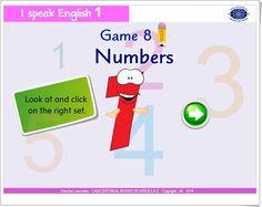 """""""Numbers"""" es un juego de """"I speak English 1"""", de Casa Editorial Mundo de Niños S.A.S., orientado al desarrollo del vocabulario oral y escrito en inglés relacionado con los primeros números."""