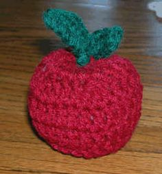 stuffed apple crochet free pattern