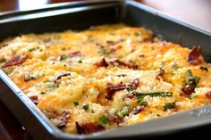 Fresno Potatoes: cheese, bacon, sour cream casserole