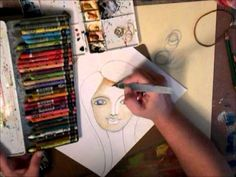 Tutorial video for water color girl face, just to help you create some basic faces to play with in your art journal. These are great girls for faces: Tamara . Art Journal Inspiration, Painting Inspiration, Art Tutor, Watercolor Girl, Journalling, Girl Face, Crayons, Art Techniques, Art Journals