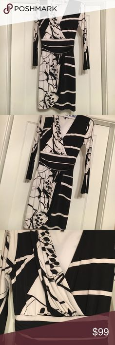 Analili dress Analili black and white v-neck beautiful dress analili Dresses Midi
