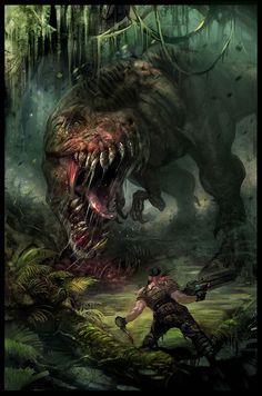 Video Game Art - Turok promo artwork