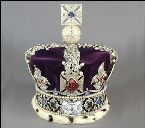 The Imperial State Crown which HRH Queen Elizabeth wears at the opening of Parliament.