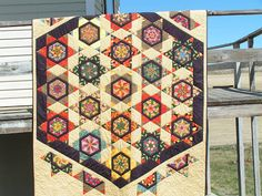 "Dreamworthy Quilts: Deana: Val's Tuesday Archives - Deana created this amazing quilt out of ""brown bag exchange"" fabrics (someone else's unwanted fabrics)"