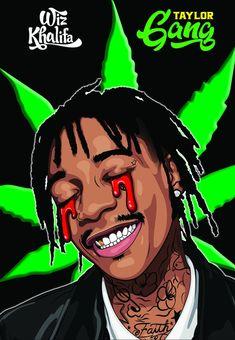 Wiz Khalifa Poster by GatewayGraphics on Etsy Arte Do Hip Hop, Hip Hop Art, Dope Cartoons, Dope Cartoon Art, Wake And Bake, Trippy Wallpaper, Cartoon Wallpaper, Wallpaper Desktop, Wallpapers