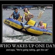 Get the Cat! #catfish #tubing #fail #SACo Credit: @blueskycabo ; funny, but really?!!