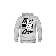 Most Dope Hoodie Men's Hooded Sweatshirt Designed by T33time ($38) ❤ liked on Polyvore