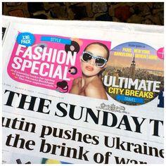 ZANZAN x YAZBUKEY 'Sardina' sunglasses on the masthead of The Sunday Times #eyewear #zanzaneyewear #sunglasses