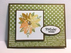 My Creative Corner!: Avant Garden, Birthday Card, Stampin' Up!, Rubber Stamping, Handmade Cards