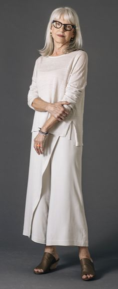Eileen Fisher - love the versatility of this outfit.