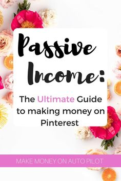 An easy passive income stream to make money online with Pinterest | side hustle | smart business | how to generate money online | make money on auto pilot (affiliate)