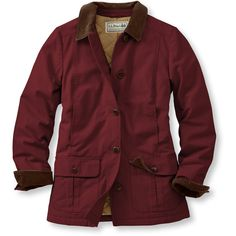 L.L.Bean Adirondack Barn Coat, Insulated  Misses Petite ($100) ❤ liked on Polyvore featuring outerwear, coats, jackets, tops, insulated coat, red coat, lightweight coats, l.l.bean and petite coats