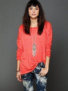 Brushed Fleece Pullover http://www.freepeople.com/whats-new/brushed-fleece-pullover/