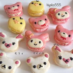 hiyoko かわいいマカロンたち♪ Anime japanese gloomy bear miffy macaron biscuits!