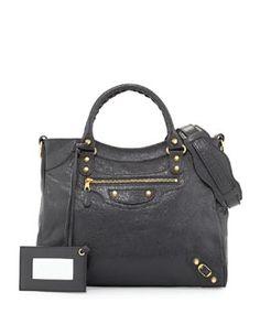 V28LH Balenciaga Giant 12 Golden Velo Bag, Dark Gray