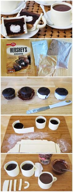 Ingredients  36 ounces fondant (or modeling chocolate)  1 17.9 ounce Betty Crocker Hershey S'mores Premium Cupcake Mix  2 large eggs  1/...