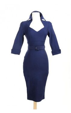 Lorelei Dress in Navy Bengaline - Dresses - Clothing | Pinup Girl Clothing - have I said how much I love the clothes on this website!!!???