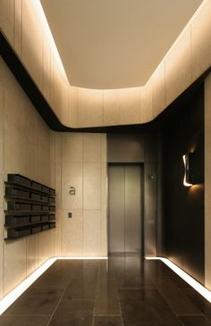 Beautiful hidden lighting by ARK Associates Ltd Interior Ceiling Design, Lobby Interior, Interior Exterior, Interior Lighting, Hidden Lighting, Cove Lighting, Ceiling Lighting, Lobby Design, Hall Design