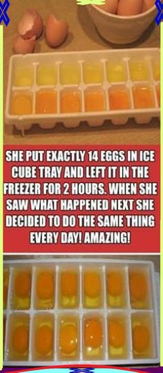 She Put Exactly 14 Eggs In Ice Cube Tray & Left It In The Freezer For 2 Hours.