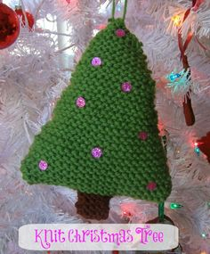 Handmade Christmas: Knit Christmas Ornaments - Growing Up Gabel