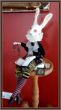 One of a kind art doll - White Rabbit. Artist - Agniete (you can find me on facebook - Agniete ArtDolls)