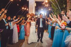 Charleston, SC Beach Wedding at Wild Dunes Resort | Bride and Groom Sparkler Exit | #WildDunesWeddings | Destination Isle of Palms and Charleston Weddings | Photo by Richard Bell Photography