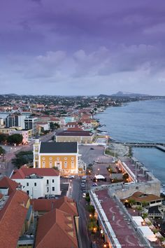Aerial View of Pietermaai Area, Willemstad, Curacao, Netherlands Antilles, Caribbean