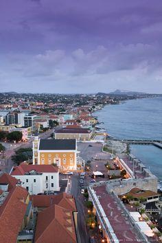 Aerial View of Pietermaai Area, Willemstad, Curacao, Netherlands Antilles, Caribbean