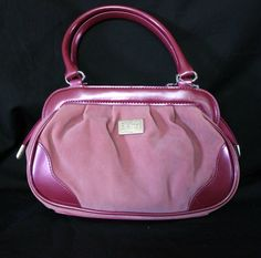 Beijo Just Hold Me Mulberry Razzbery Purse Handbag PVC Trim Two-Tone Pink Spring #Beijo #Handbag