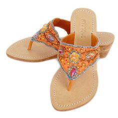 Love the bead work Mystique Sandals, Jeweled Sandals, Palm Beach Sandals, Cute Summer Outfits, Shoes Heels, Flats, Me Too Shoes, Pairs, Jewels