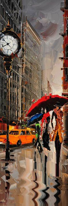 Cityscapes Paintings by Kal Gajoum. I love this guy's paintings.