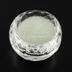 Transparent DIY 3D Nail Art Decoration Mini Glass Beads,12 Colors,White,SeaGreen,Blue,Black,Tiny Caviar Nail Beads, 0.6~0.8mm