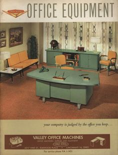 Cole Steel Office Furniture, 1959. From the Association for Preservation Technology (APT) - Building Technology Heritage Library, an online archive of period architectural trade catalogs. Select an era or material era and become an architectural time traveler.