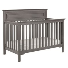 Tailored to fit all seasons, the Autumn 4-in-1 convertible crib features a higher headboard with refined molded details and a simple slat design.