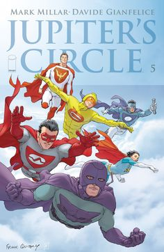 The cover to Jupiter's Circle #5 (2015), art by Frank Quitely
