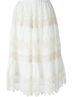 Ecru cotton 'Pagode' skirt from Mes Demoiselles