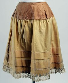 Petticoat  Date: 1888 Culture: American or European Medium: wool