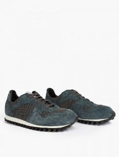 Spalwart Teal Suede Marathon Trail Sneakers The Spalwart Suede Marathon Trail Sneakers for SS16, seen here in teal. - - These understated sneakers from Spalwart are crafted to impeccable standards from premium suede. They are finished with a co http://www.MightGet.com/january-2017-13/spalwart-teal-suede-marathon-trail-sneakers.asp