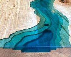 Live Edge Epoxy River Spalted Maple Coffee Table with Wood Burning Topographic Live Edge Tisch, Live Edge Table, Wood Resin Table, Wood Tables, Dining Tables, Coffee Tables, Dining Room, Microsoft, Table Cafe
